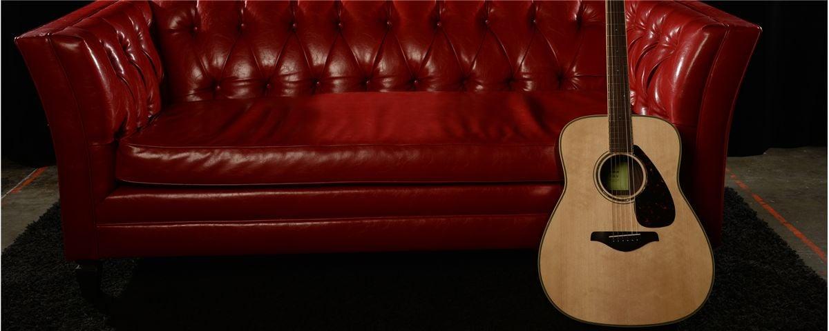 Acoustic guitars sofa